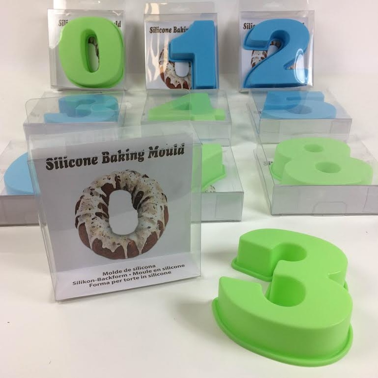 20685 - Silicone Baking Mould with Numbers Europe
