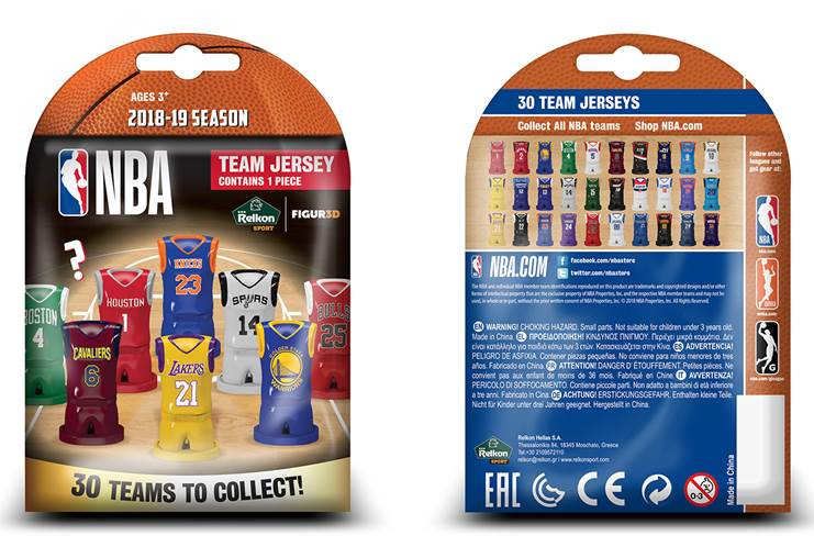 32351 - Lucky bag with collectable 3D NBA Team Figures Europe