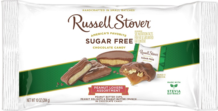 33191 - Russell Stover Sugar Free Peanut Lovers Laydown Bag USA